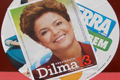 Dilma election poster
