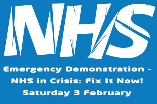 National demo: NHS IN CRISIS – FIX IT NOW