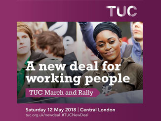 TUC march and rally with Jeremy Corbyn 12 May