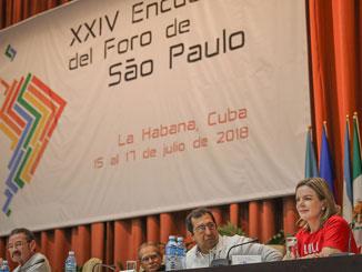 Report on the 2018 São Paulo Forum in Havana