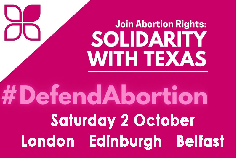 Abortion Rights solidarity with Texas actions – 2 October