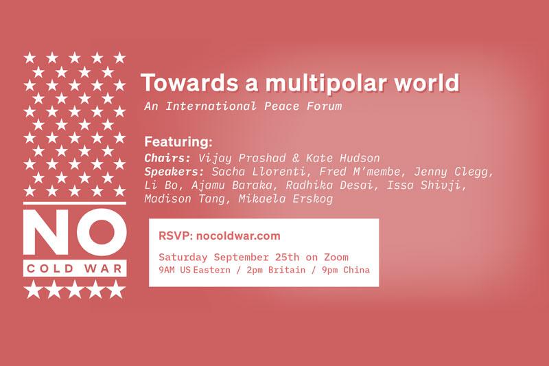 Towards a multipolar world: An International Peace Forum 25 September