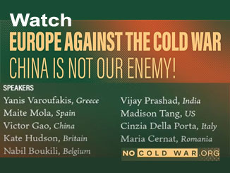 Watch: Europe against the cold war – China is not our enemy!