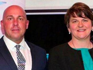North Down UDA commander Dee Stitt with DUP Leader Arlene Foster