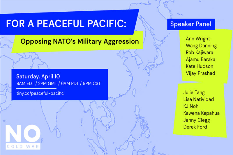 For a Peaceful Pacific: opposing NATO's military aggression – Webinar 10 April